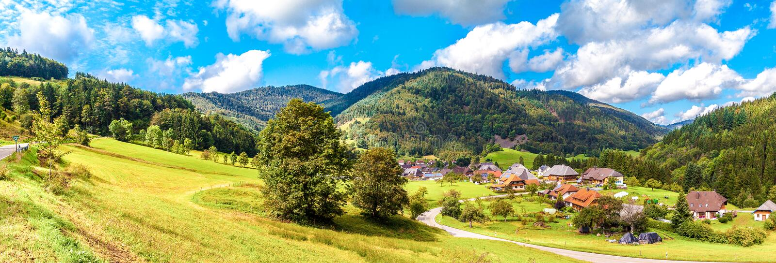 Streets Black Forest. Streets at the Black Forest stock photography