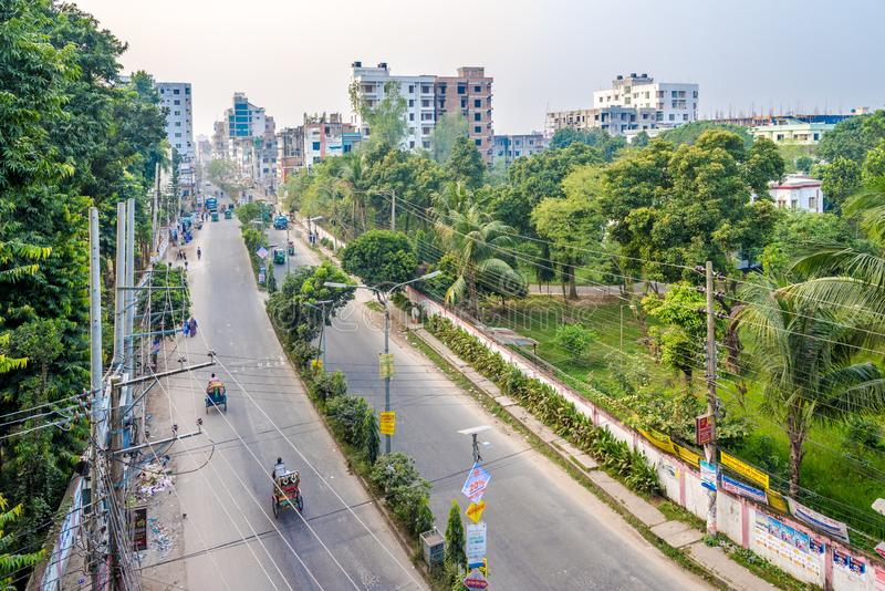 In the streets of Bogra - Bangladesh. BOGRA,BANGLADESH - NOVEMBER 4,2019 - In the streets of Bogra. This city is also known as the capital of North Bengal of stock photography