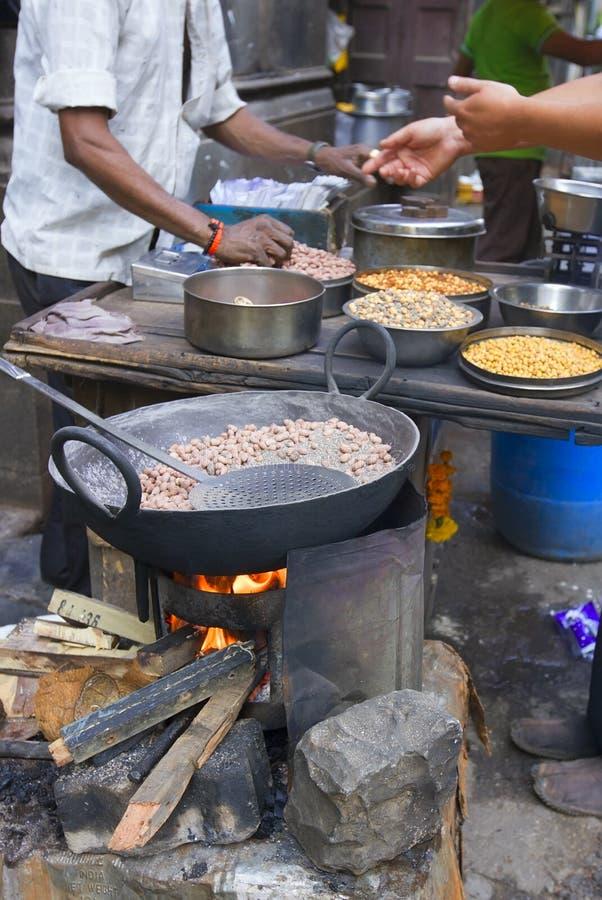 Streets of Bombay (MUMBAI, INDIA) Traditional street food. May 2015 royalty free stock image