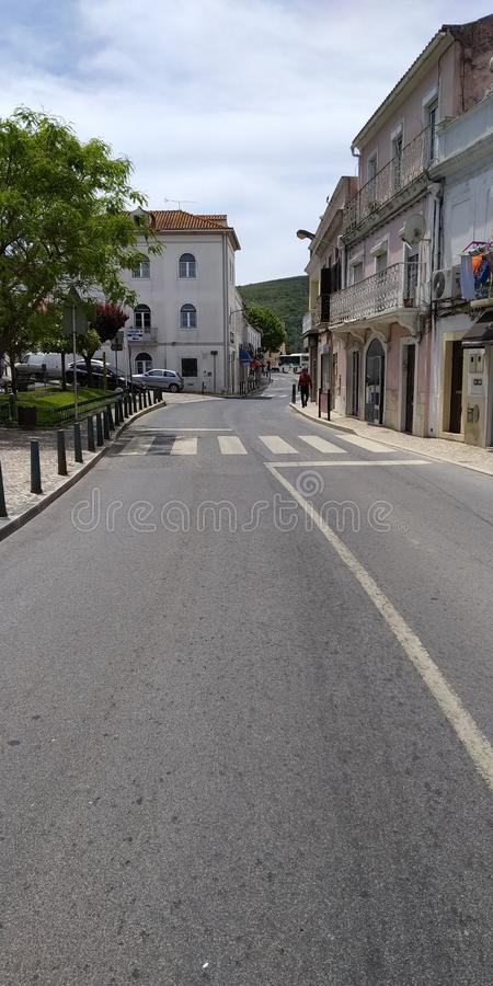 Streets from Bucelas, Loures, Portugal. Arinto Capital stock photo