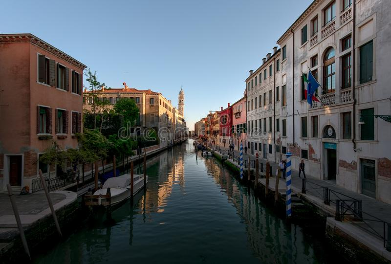 Streets and canals of the old city of Venice. Italy royalty free stock images