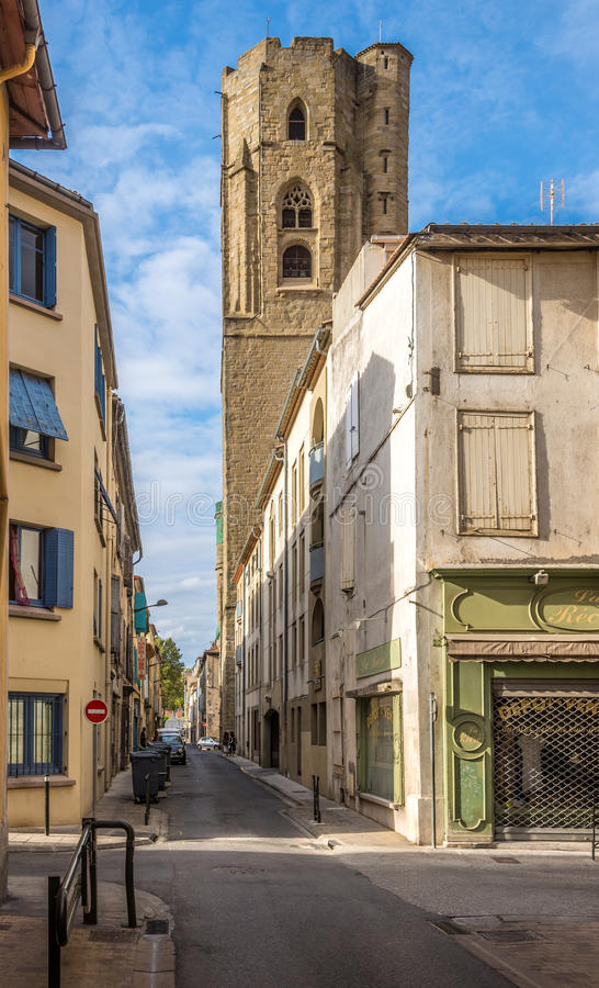 In The Streets Of Carcassonne City In France Editorial Stock Image