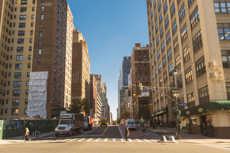 Streets of Chelsea district in Manhattan, New York royalty free stock photography