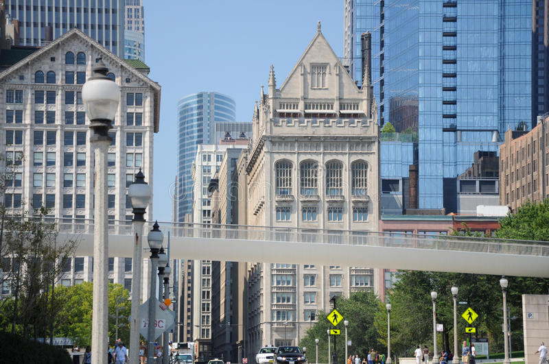 Streets of Chicago royalty free stock photos
