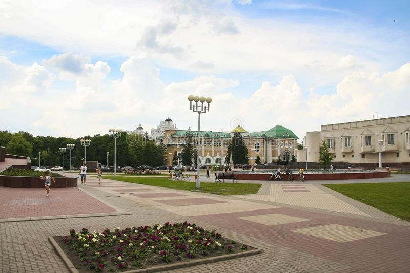 Streets of the city of Belgorod. Russian Federation. June 2012 stock photo