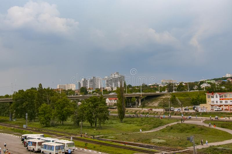 Streets of the city of Belgorod. Russian Federation. June 2012 royalty free stock photo