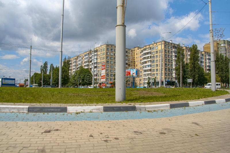 Streets of the city of Belgorod. Russian Federation. June 2012 royalty free stock image