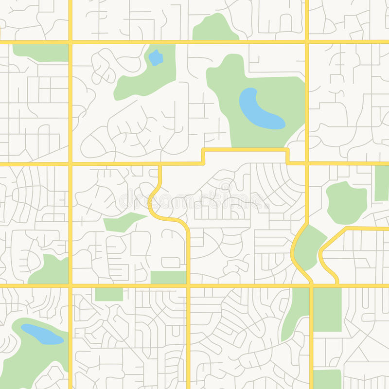 Streets of a city - vector map royalty free illustration