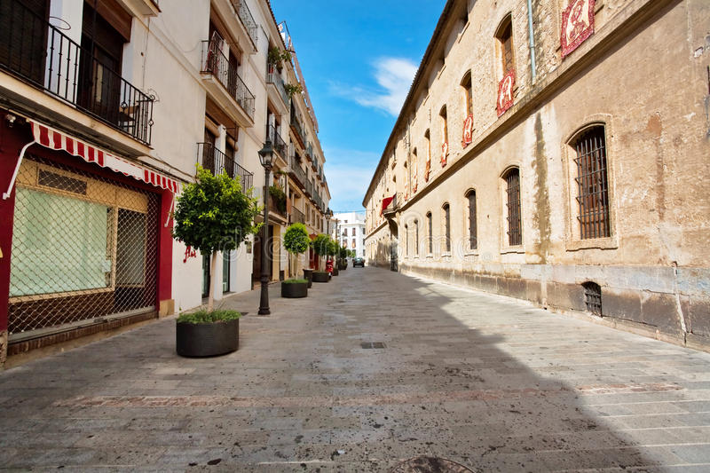 On the streets of Cordova. On the streets of old town in Cordova. Spain stock images