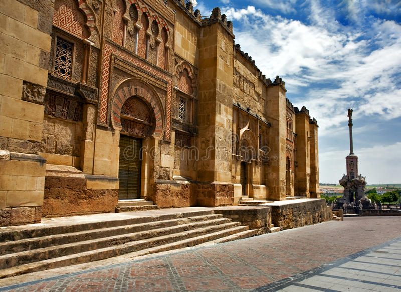 On the streets of Cordova. On the streets of old town in Cordova. Spain royalty free stock photo