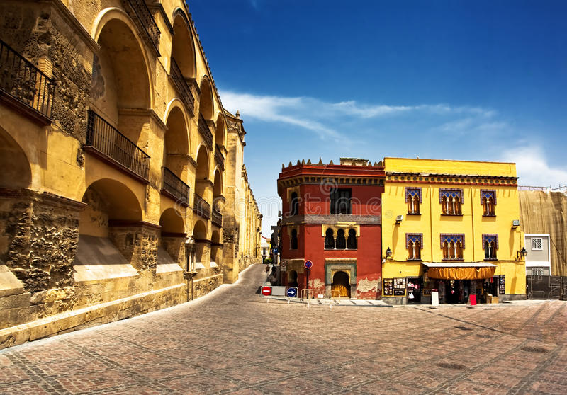 On the streets of Cordova. On the streets of old town in Cordova. Spain stock photos