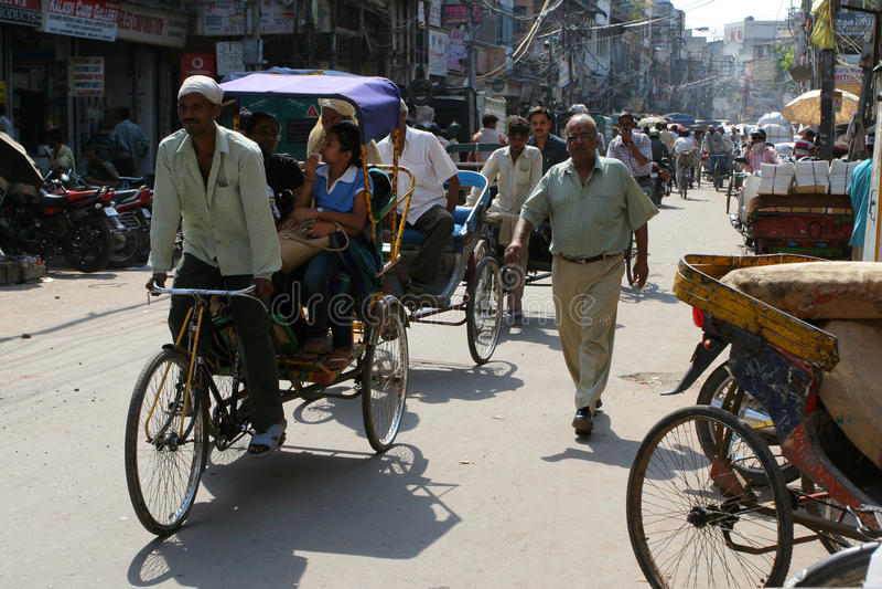 Streets Of Delhi Editorial Stock Photo