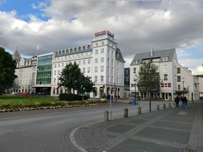 Streets of downtown Reykjavik Iceland. Urban, city, europe, european royalty free stock photography