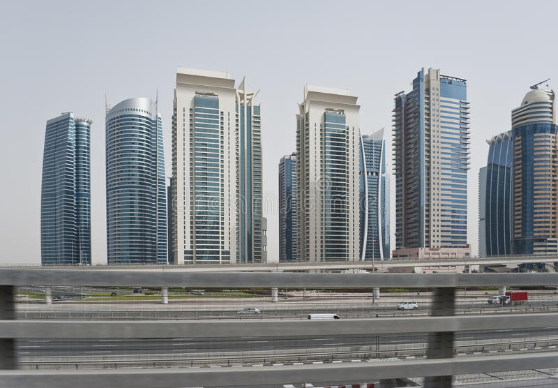 Streets of Dubai royalty free stock photo