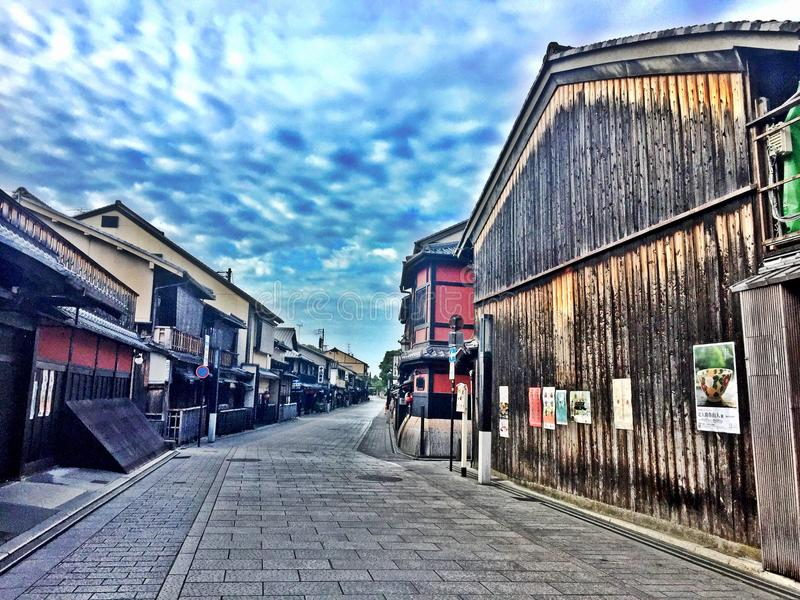 The Streets of Gion, Kyoto in the Early Morning royalty free stock photo