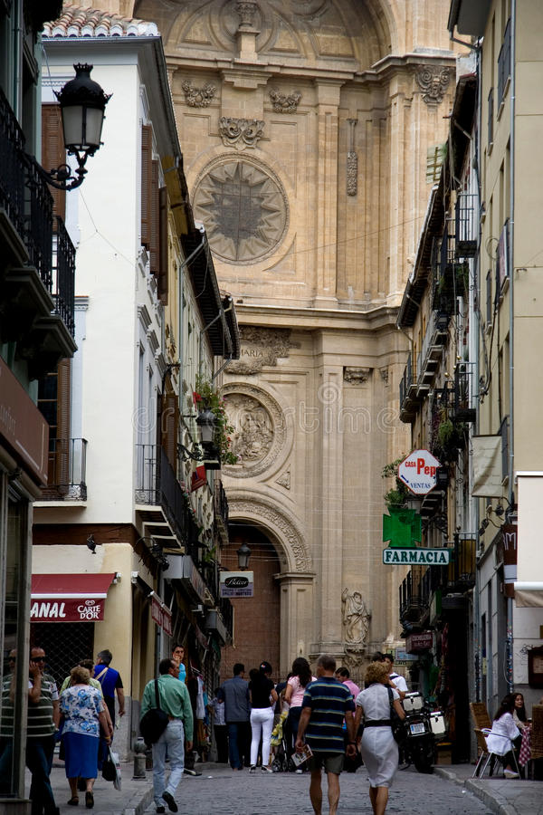 Download Streets of Granada editorial photo. Image of spain, detail - 23635941