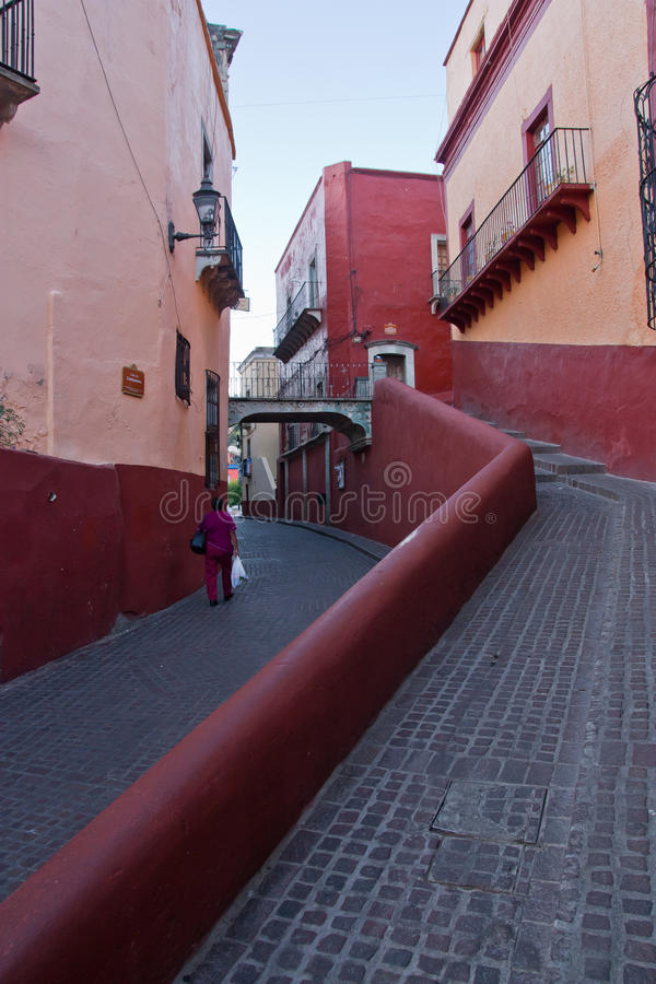 Streets in Guanajuato stock images