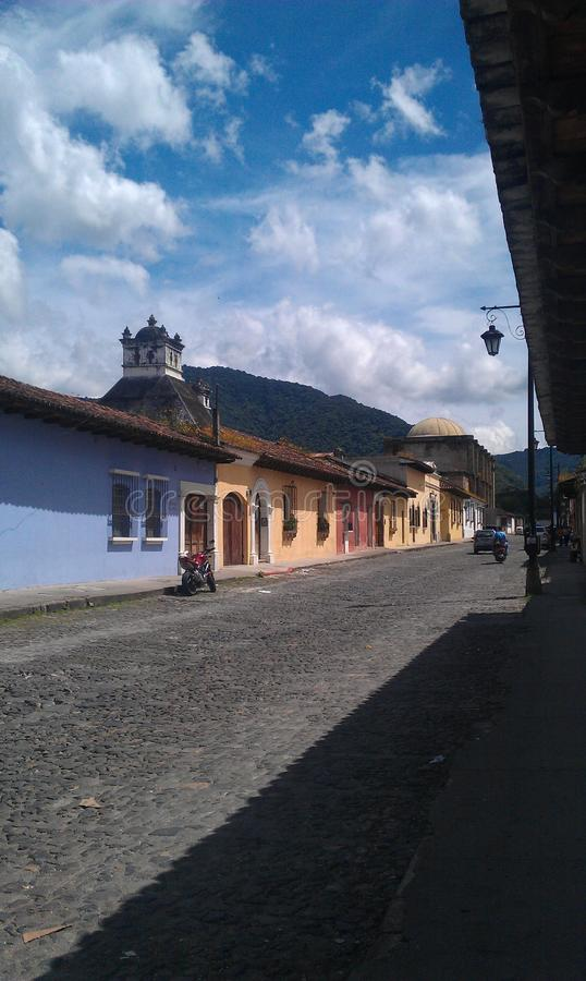 Streets in guatemala royalty free stock images