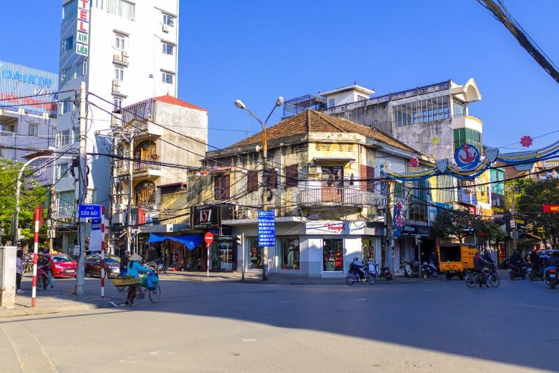 Streets of Hai Phong, Vietnam stock image