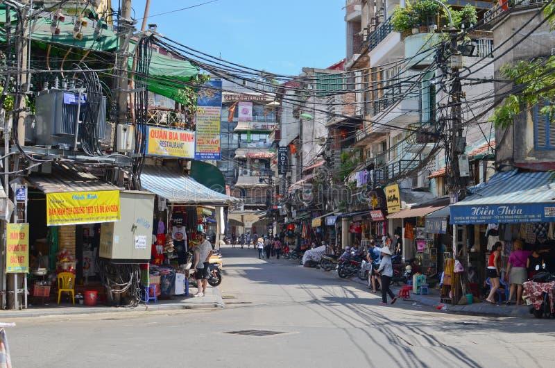 Streets of Hanoi royalty free stock image