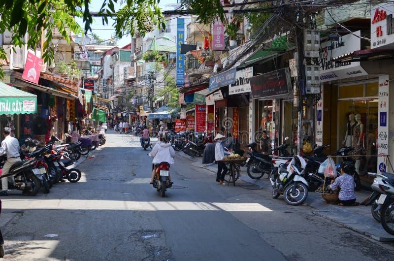 Streets of Hanoi stock photos