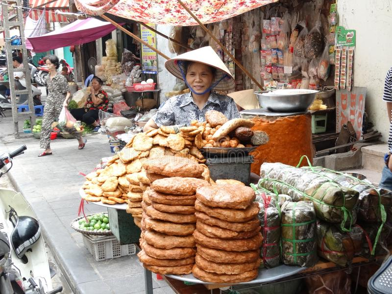 Streets of Hanoi`s Old Quarter royalty free stock photography