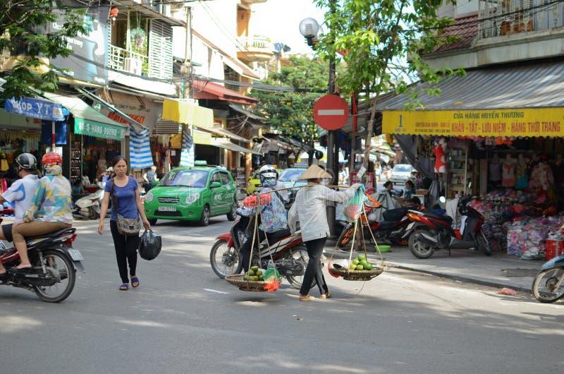 Streets of Hanoi stock image