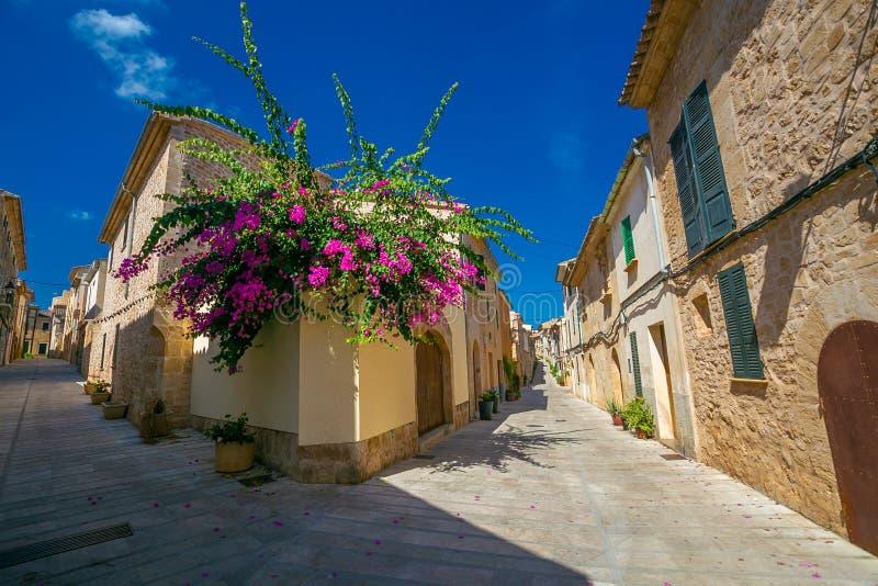 Streets of historic Alcudia. Majorca. Spain. royalty free stock photography