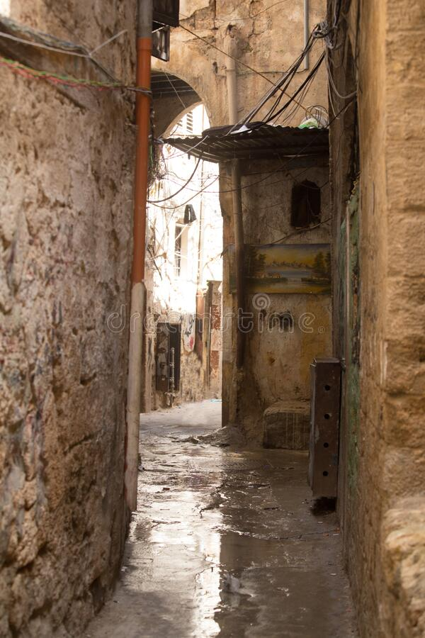 Streets in the historic center of Tripoli, Lebanon. June, 2019 royalty free stock photos