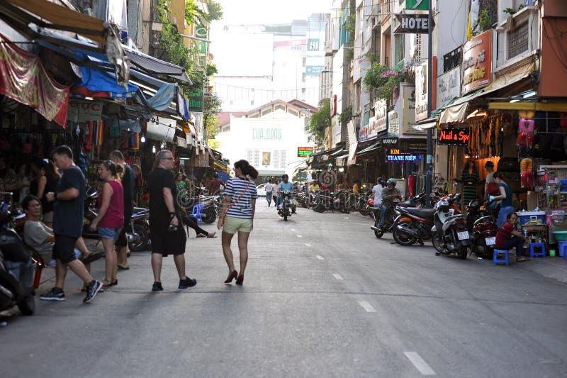 On the streets of Ho Chi Minh, Saigon. Vietnam royalty free stock photos
