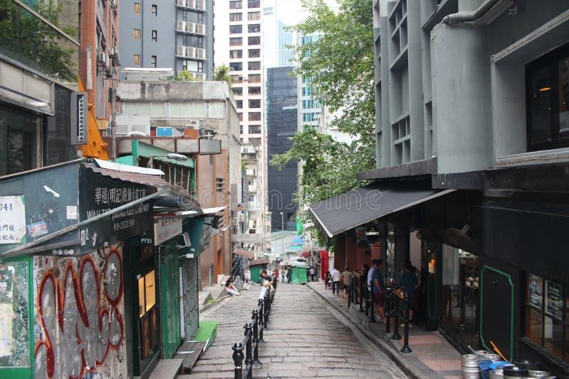 Streets of Hong Kong stock photography
