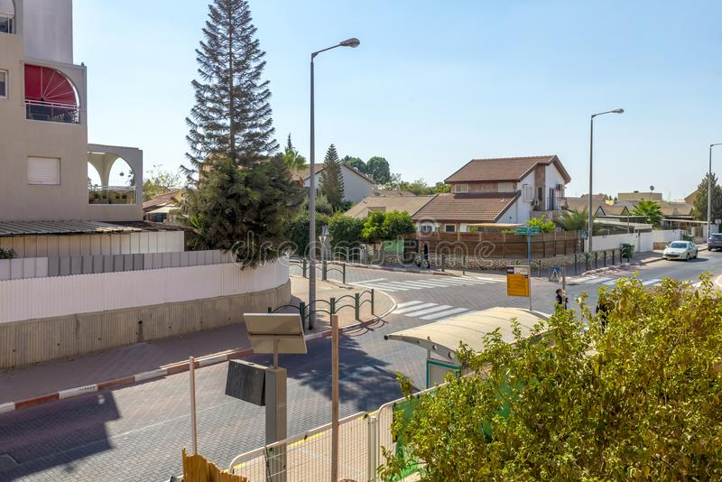 Streets and houses in Beer Sheva city area royalty free stock photo