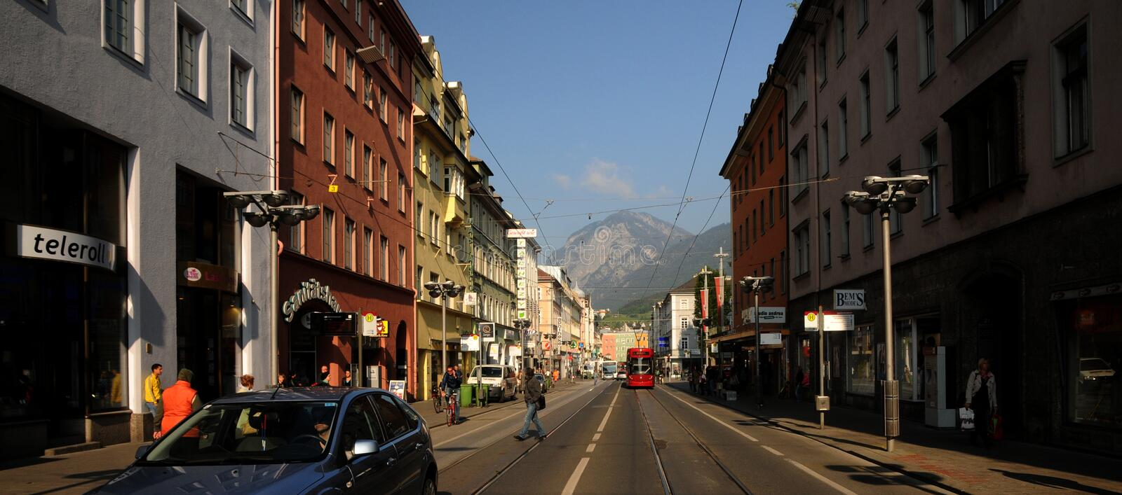 In The Streets Of Innsbruck Editorial Photography