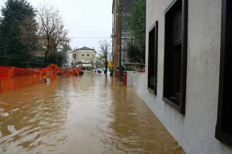 Streets invaded by mud during a flooding 5. Streets and road invaded by mud during a flooding of the River 5 stock photos