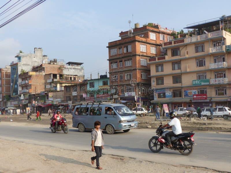 Streets of Kathmandu stock photos