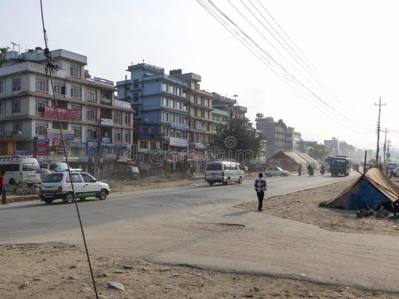 Streets of Kathmandu royalty free stock photography