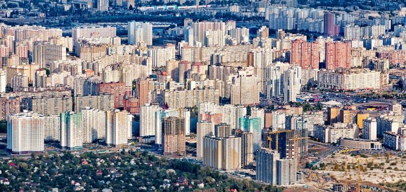 Streets of Kiev, capital of Ukraine. From bird's eye view stock photo