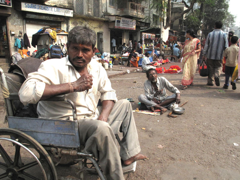 Streets of Kolkata, Beggars. Streets of Kolkata. Thousands of beggars are the most disadvantaged castes living in the streets, January 24, 2009 stock photos