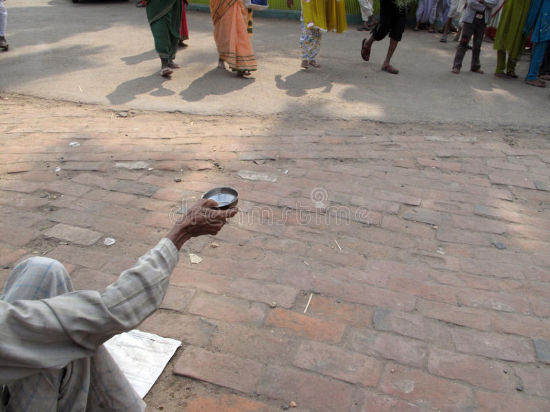 Streets of Kolkata, Beggars. Streets of Kolkata. Thousands of beggars are the most disadvantaged castes living in the streets, January 24, 2009 stock photo