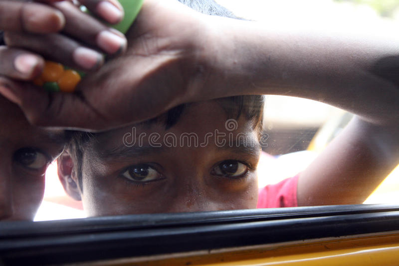 Streets of Kolkata, Beggars. Streets of Kolkata. Thousands of beggars are the most disadvantaged castes living in the streets, January 23, 2009 stock images