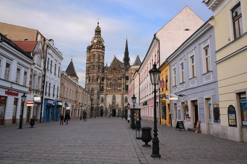 Streets of Kosice stock images