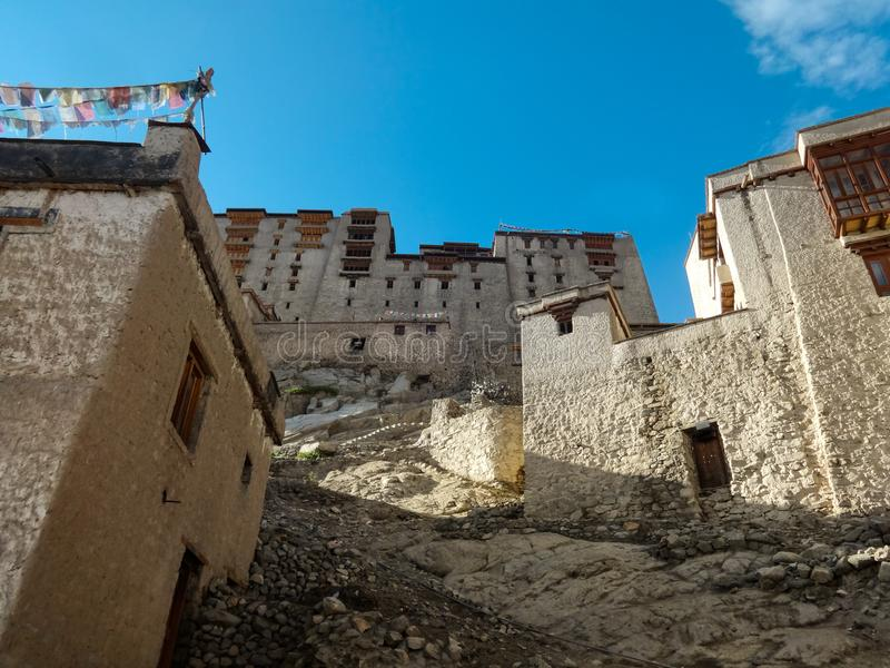 The old castle of Leh stock photo