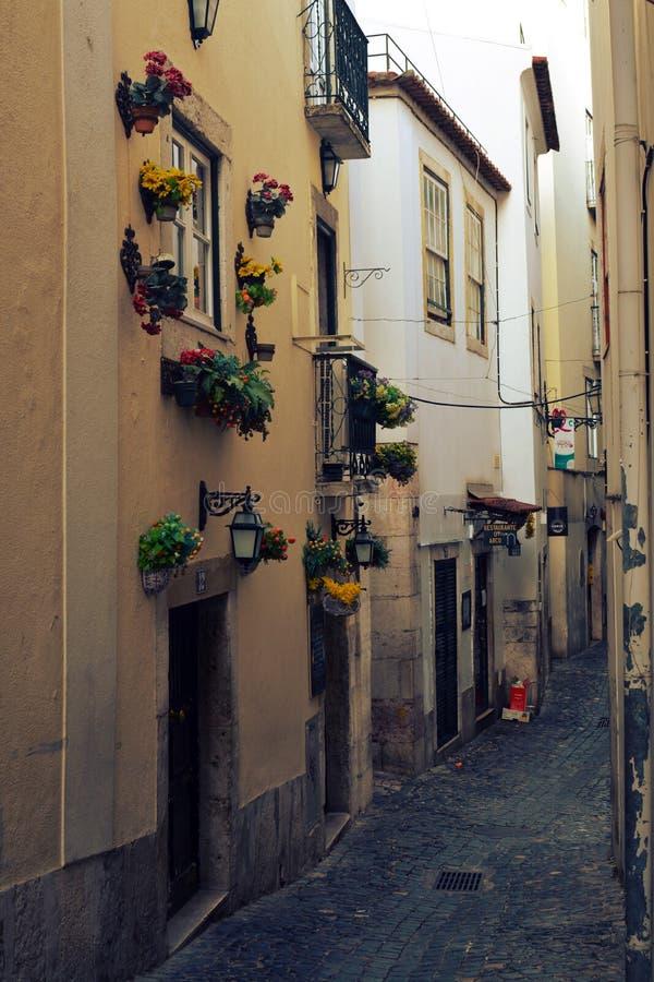 Streets of Lisbon stock photos