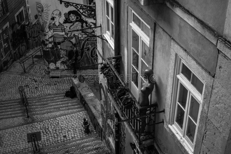 Streets of Lisbon. Serenata stock images