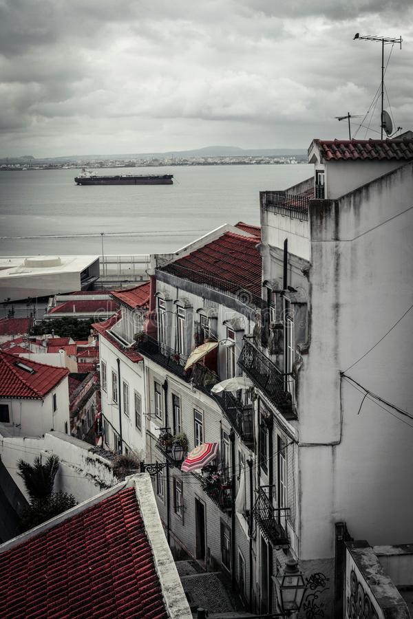 Streets of Lisbon royalty free stock images