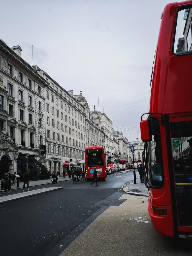 Streets of London during autumn season royalty free stock photography