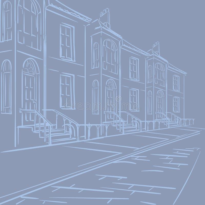 Streets of London stock illustration