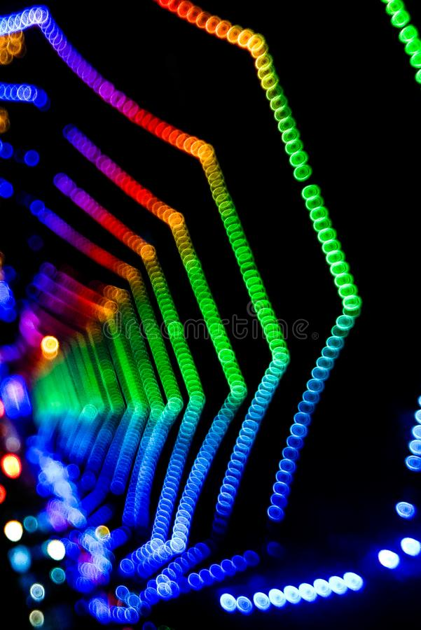 Colourful blur effect stock photography