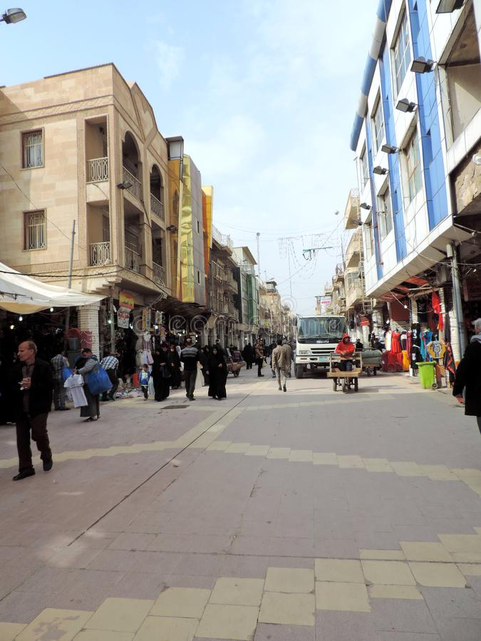 Streets of Najaf. Najaf or al-Najaf al-Ashraf is a city in central-south Iraq about 160 km south of Baghdad. It is the capital of Najaf Governorate. It is widely stock images