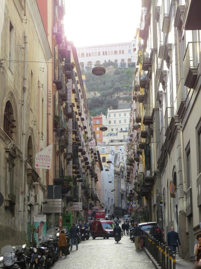 Streets of Naples, Italy. royalty free stock image